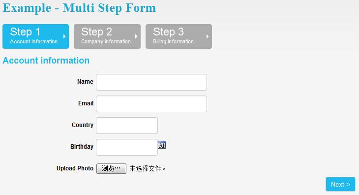multi steps form